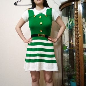 Adorable Elf Santa Christmas Dress with Hat
